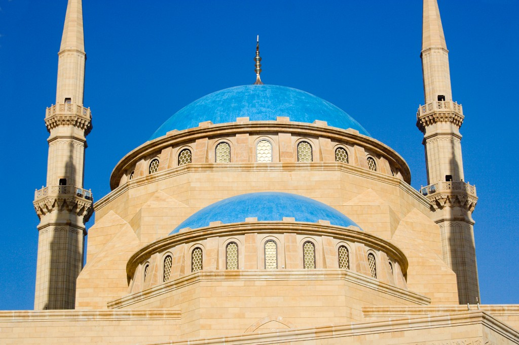 Khatem Al Anbiya Mosque Blue Dome